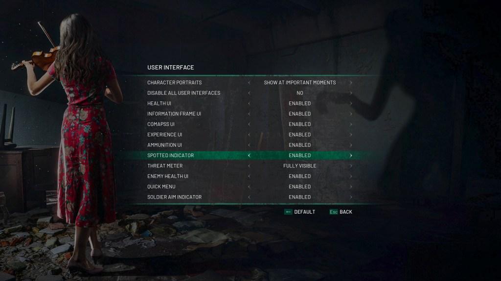 chernobylite user interface settings