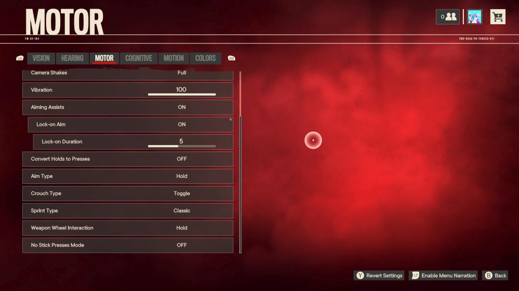 Far Cry 6 motor preset menu