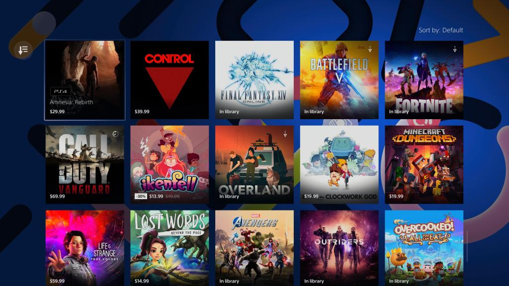 Sony PlayStation Store accessibility collection games lsited