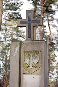 Pomnik w sieklewskim lesie