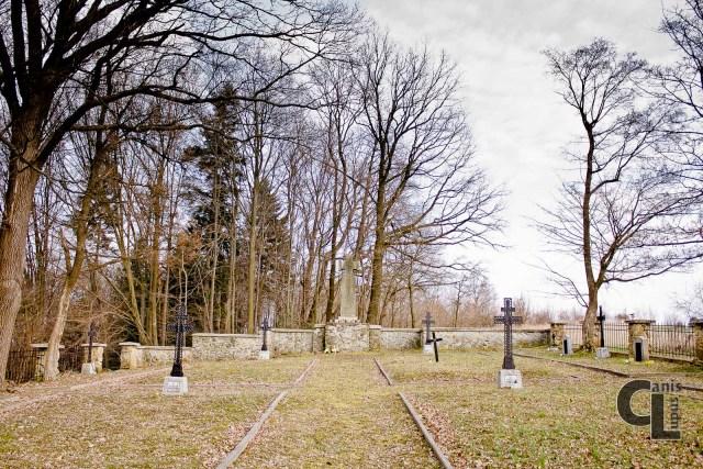 Cmentarz wojenny z I Wojny Światowej nr 15 w Harklowej widok ogólny