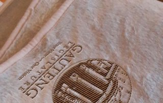 Pink-Blanket with embossed logo
