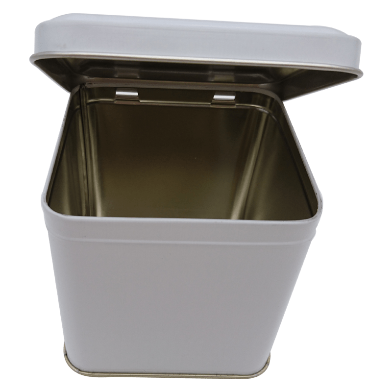 Cr19 WHITE 99x99x100 tin box with lid