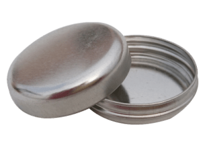 Cr1 50x11 16g seamless metal tin for ointment, wax, mints, balm and more