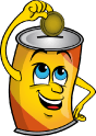 Tin Can Figurine from Can It's logo - website favicon
