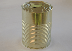 Large Metal Donation Tin Box