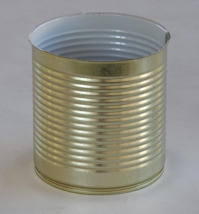 Isolated Tin Can on white background