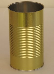 A6XL2 Large Round Metal Food Tin Can