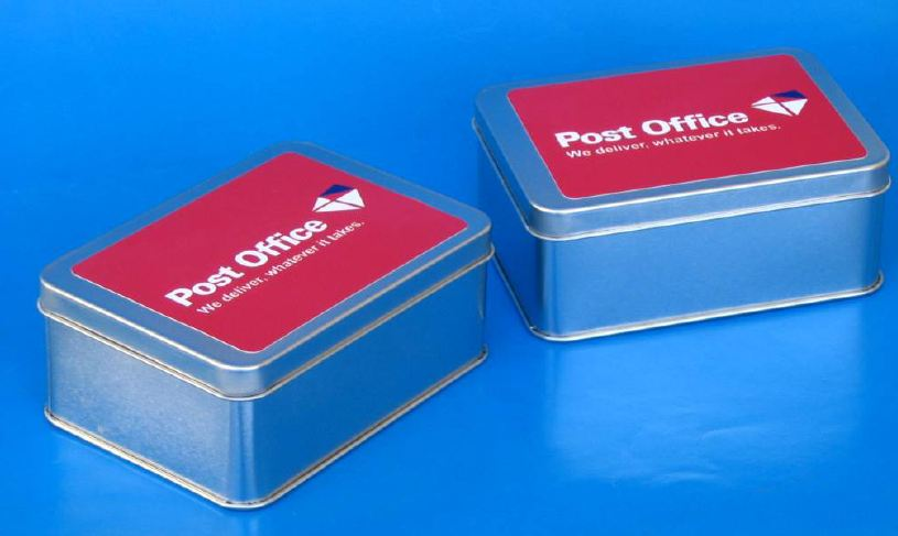 Post Office Branded Tin Boxes from Can It