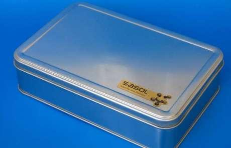 SASOL rectangular tin box