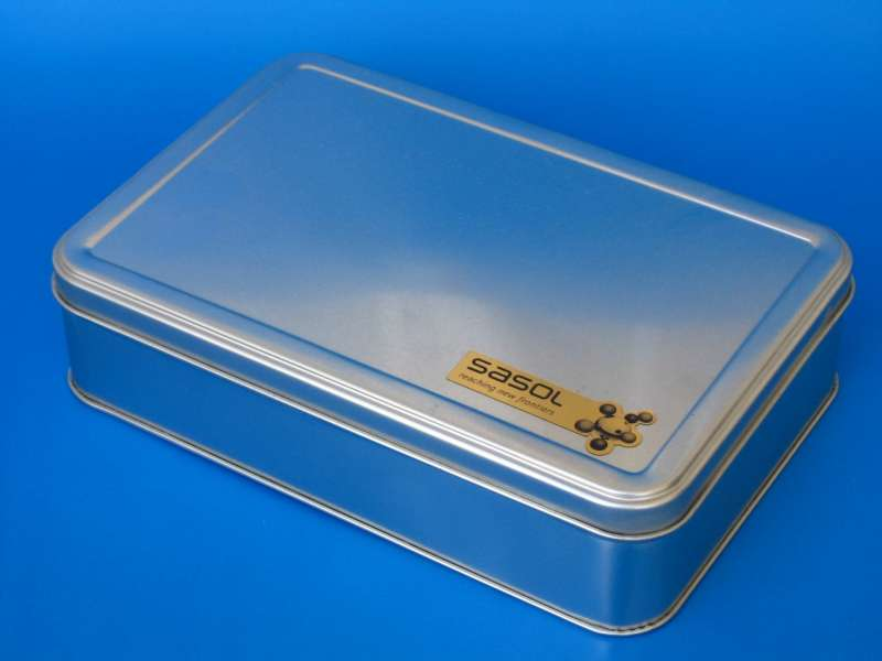 SASOL rectangular tin box