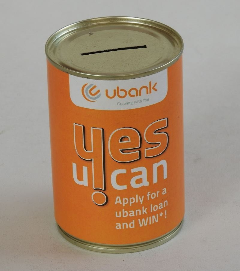 UBANK Branded Charity Can from Can It