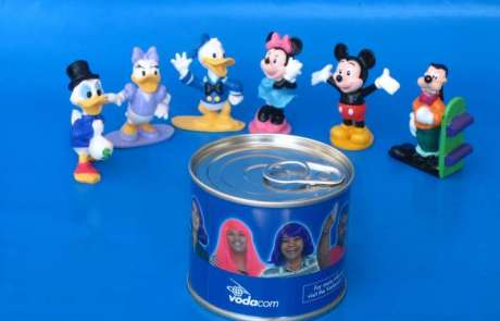 Vodacom Disney Promotion - Sealed Disney Figurine in small branded tin can