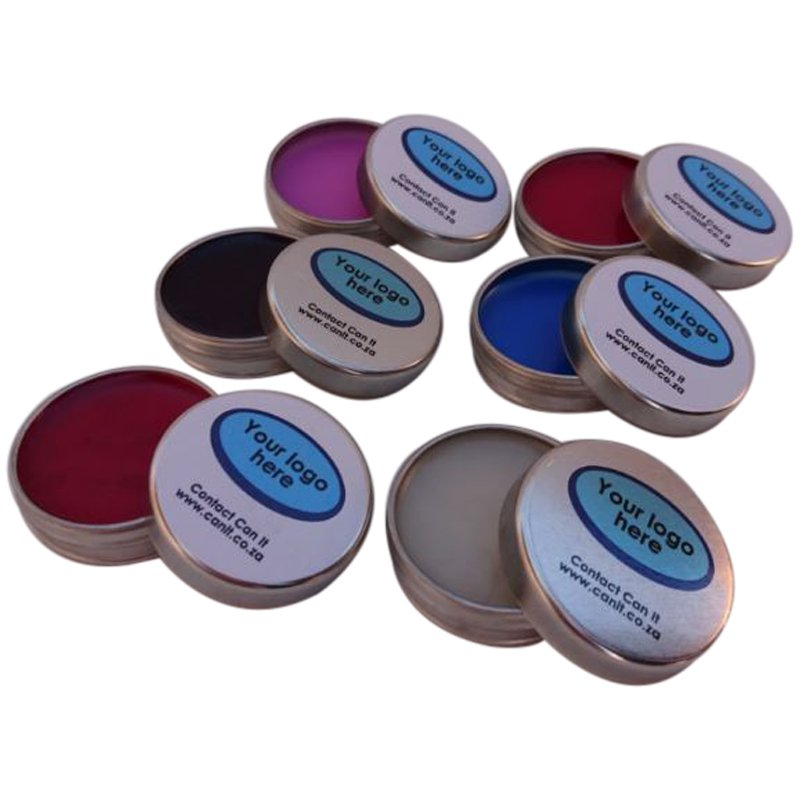Small Round Metal Lip Balm Tins, Custom Branded with your Artwork