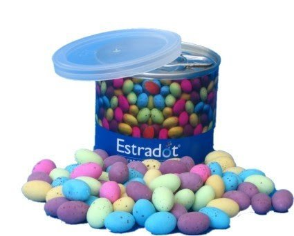 Easter Speckled Eggs in a Tin