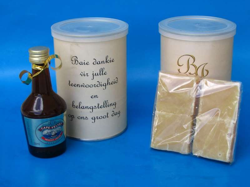 Fudge and Alcohol Corporate Gift Set in sealed tin can, custom branded