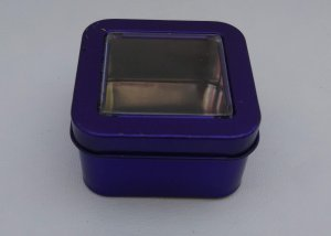 Can It's Dark Purple Square Window Tin