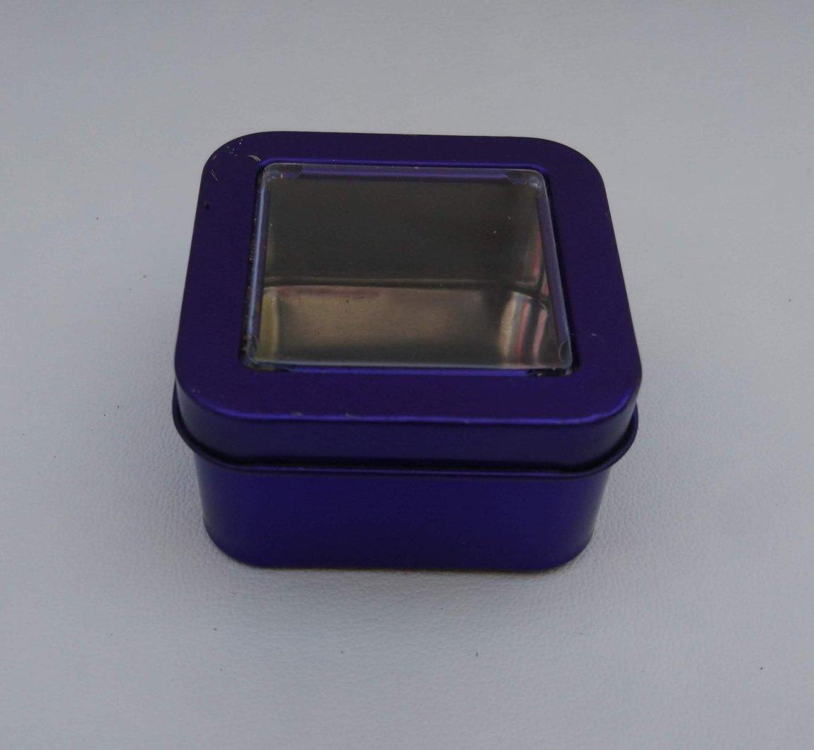 Can It's Dark Purple Square Window Tin