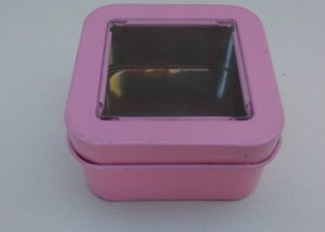 Can It's Light Pink Mini Square Window Tins