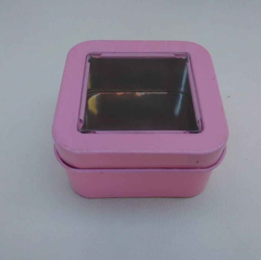 Can It's Light Pink Mini Square Window Tins