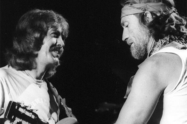 CIBASS Jody Payne tocando con Willie Nelson en 1979