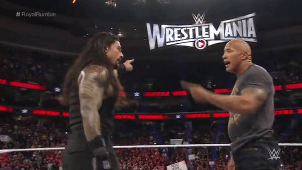 Royal Rumble Enero 2015 de la WWE: Reign y shurprimo The Rock
