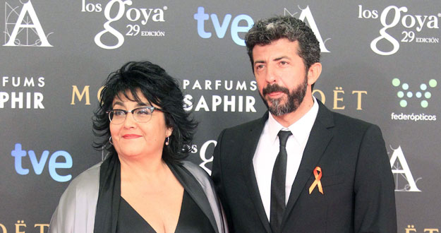 CIBASS Alberto Rodríguez con lazo naranja en el PhotoCall de los premios Goya 2015