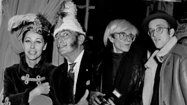 Ultra Violet, Salvador Dali, Andy Warhol y Keith Haring en New Yorl al inicio de los 80