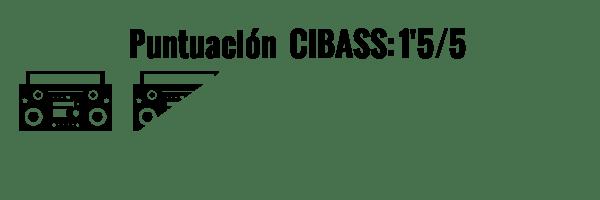 CIBASS Puntuación CIBASS Un punto y medio