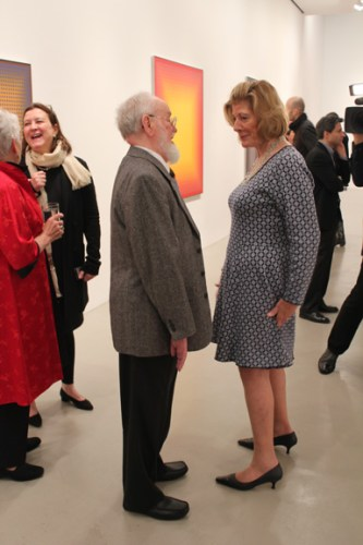 Julian Stanczak with Agnes Gund at Mitchell-Innes and Nash Gallery, New York