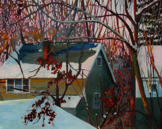 View from the Studio, Cleveland Heights, by Christine Ries