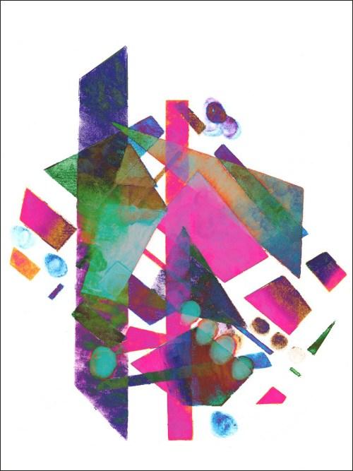 Michelle Murphy, Face Paint / Finger Paint, Chromogenic print on metallic paper, 2015
