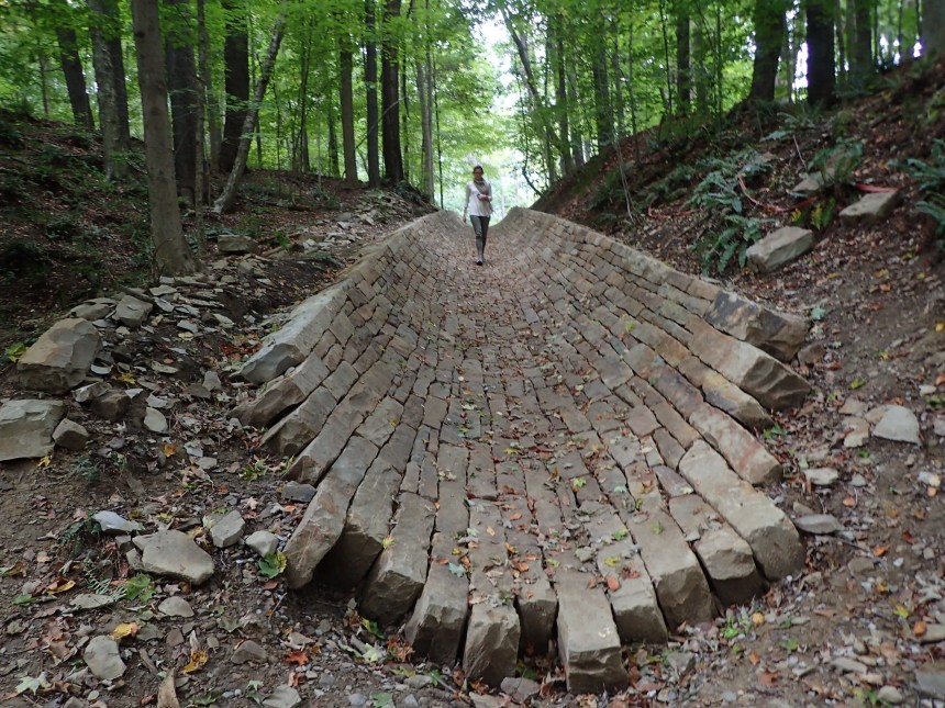 Road, Ohio, 2016. Andy Goldsworthy (British, b. 1956) © Andy Goldsworthy. Image courtesy of the Cleveland Museum of Art.