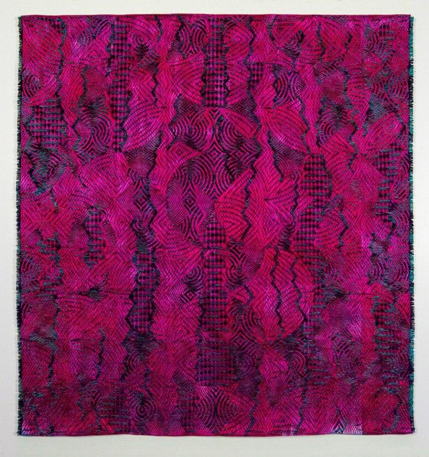 Janice Lessman-Moss, Jacquard Weaving.