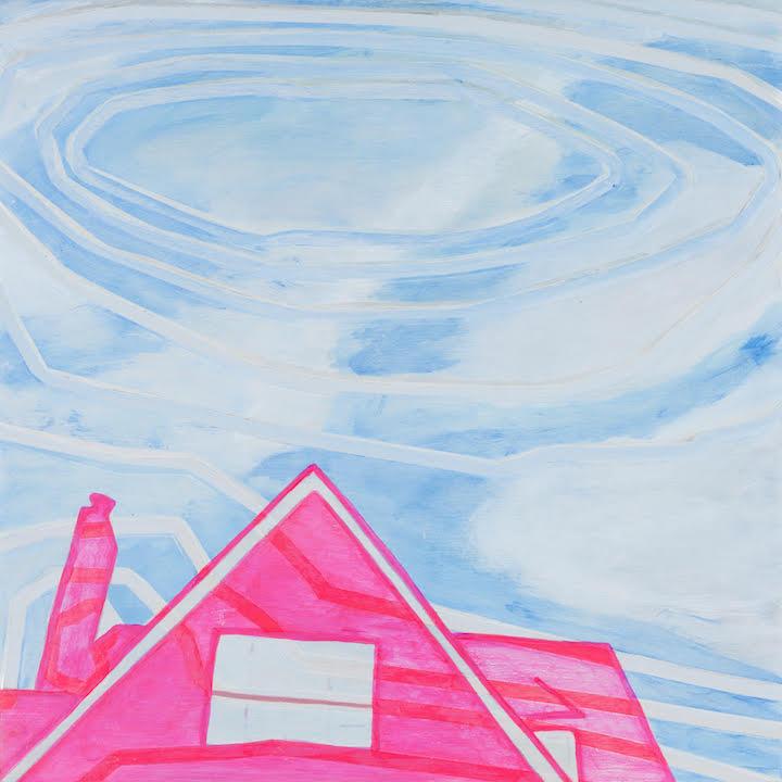 """""""Cloudscape 10.15.1"""" by Paula Izydorek. Acrylic on beech wood panel."""