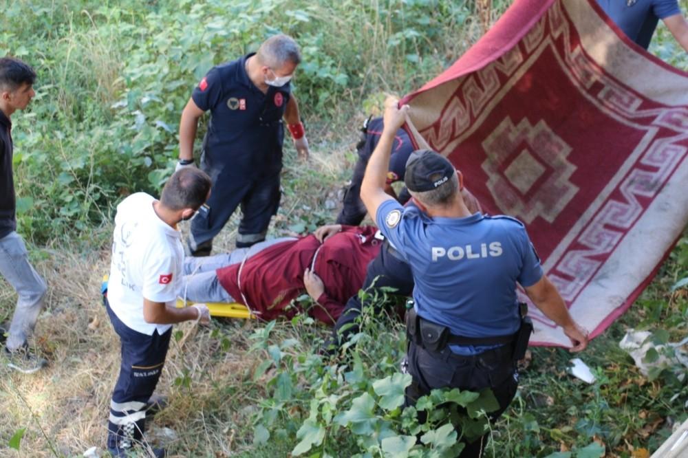 Tatlı Çay'a 5 metre yükseklikten düşen kadın ölümden döndü
