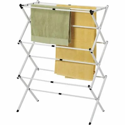 Clothes lines and collapsable drying racks at Canmore Home Hardware.