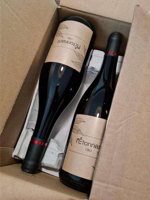 vin rouge L'Etonnant au CBD
