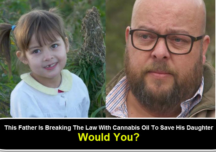 FATHER GETTING CANNABIS OIL FOR HIS SICK DAUGHTER