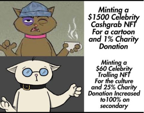 cannabis NFT stoned cats Kunis