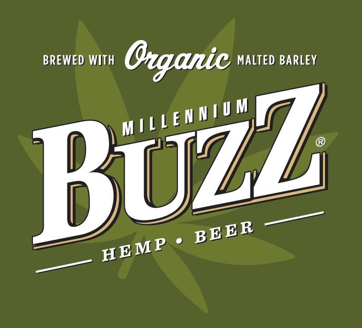 Buzz Hemp Beer logo w leaf