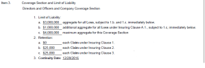 Example D&O Insurance Coverages