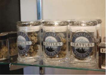 RETAIL STORE CANNABIS IN DISPLAY CASE