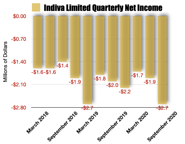 Indiva Limited Net Earnings