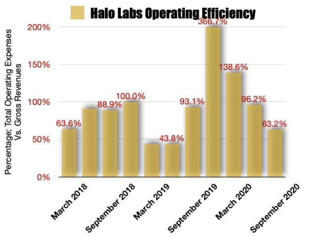 Halo Collective Operating Efficiencies