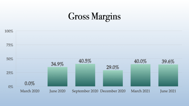 Plus Products Gross Margins