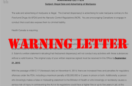 HEALTH CANADA WARNING LETTER