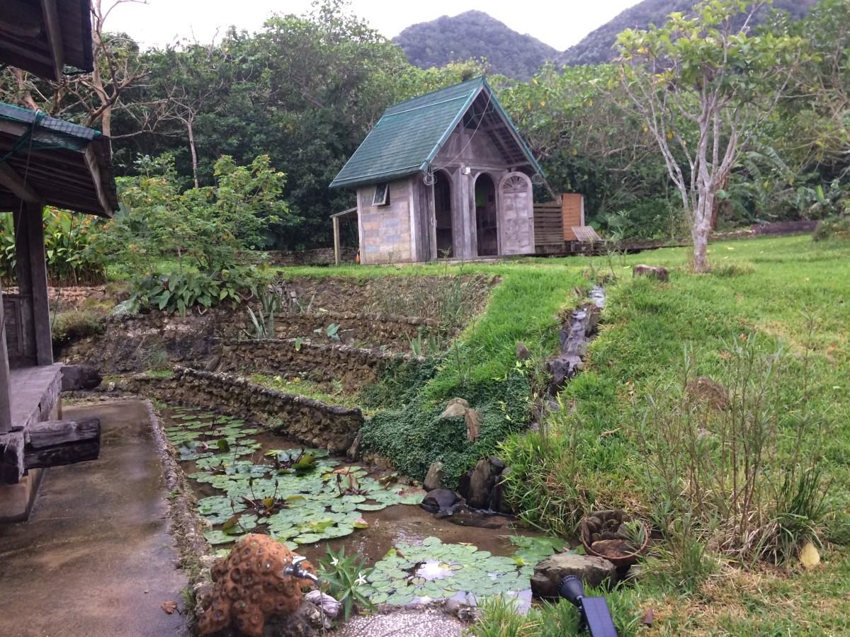 Saya-san's camping lodge, Ninji-no-mame. Photo courtesy of the author.