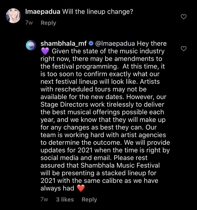 Shambhala line-up