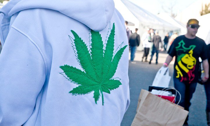 Cannabis-Leaf-On-White-Hoody